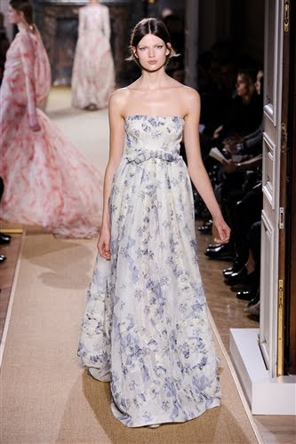valentino spring 2012 garden party violet floral gown