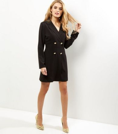 black-long-sleeve-tuxedo-dress