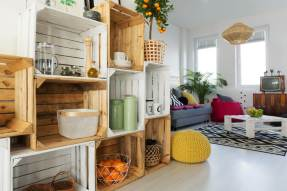 bigstock-Crate-Shelf-In-Living-Room-195817522